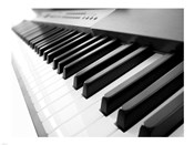Yamaha P120 close-up of Piano Keys