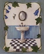 Bell Flower Bath II on Ivory