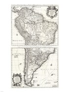 1730 Covens and Mortier Map of South America