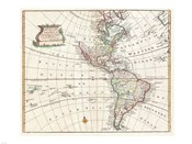 1747 Bowen Map of North America and South America