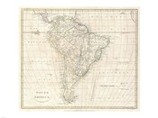 1799 Clement Cruttwell Map of South America