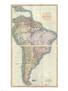 1807 Cary Map of South America