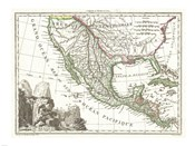 1810 Tardieu Map of Mexico, Texas and California
