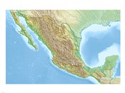 Mexico Relief Location Map