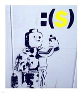 Leggo Man Graffiti - Israel