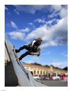 Skater In Florence On Ramp