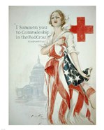 Harrison Fisher WWI American Red Cross Poster