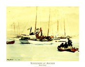 Winslow Homer - Schooners at Anchor Size 22x28