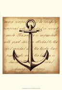 Sepia Captain&#39;s Anchor