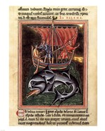 12th Century Painters - On Whales Folio from a Bestiary