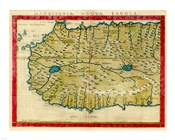 1561 Map of West Africa by Girolamo Ruscelli