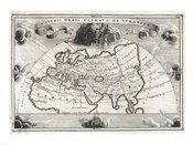 1700 Cellarius Map of Asia, Europe and Africa