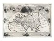 1700 Cellarius Map of Asia, Europe and Africa