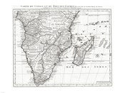 1730 Covens and Mortier Map of Southern Africa