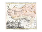 1743 Homann Heirs Map of West Africa