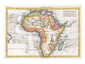 1780 Raynal and Bonne Map of Africa