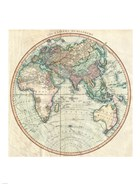 1801 Cary Map of the Eastern Hemisphere