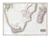 1809 Pinkerton Map of Southern Africa