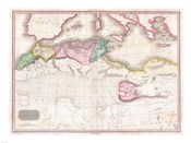 1818 Pinkerton Map of Northern Africa and the Mediterranean