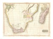 1818 Pinkerton Map of Southern Africa