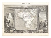 1847 Levasseur Map of Africa