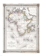 1852 Bocage Map of Africa