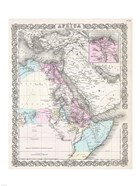 1855 Colton Map of Northeastern Africa