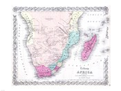 1855 Colton Map of Southern Africa