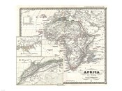 1855 Spruner Map of Africa Since the Beginning of the 15th Century