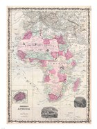 1862 Johnson Map of Africa