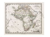 1862 Stieler Map of Africa