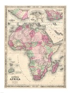 1864 Johnson Map of Africa