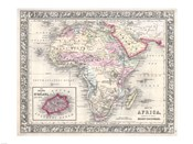 1864 Mitchell Map of Africa