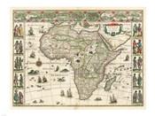 Africa 1635, Willem Janszoon Blaeu