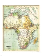 Map of Africa 1885