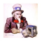 James Montgomery Flagg  -Uncle Sam With Empty Treasury 1920