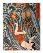 Tamatori Being Pursued by a Dragon
