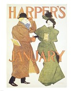 Brooklyn Museum Harper's Poster January 1895  Edward Penfield