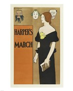 Brooklyn Museum Poster for Harper's Magazine Edward Penfield