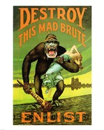 Destroy This Mad Brute' US Enlist Poster