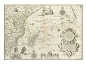 East Africa and the Indian Ocean 1596, Arnold Florent van Langren