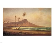 Gideon Jacques Denny - 'Waikiki Beach', oil on canvas, 1868