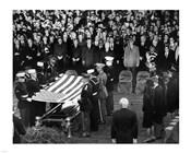 Honor Guard Prepares to Fold Flag Over JFK Casket, 25 November 1963