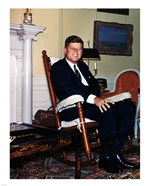 JFK in Yellow Oval Room 1962