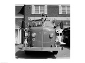 USA, New York, East Meadow, Fire engine