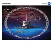 Space Shuttle Discovery Tribute Poster