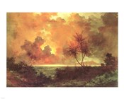 Jules Tavernier - 'Sunrise Over Diamond Head', 1888
