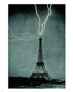 Lightning Striking the Eiffel Tower