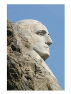 Sideview of George Washington Statue at Mt Rushmore