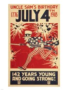 Uncle Sam's Birthday 1776 July 4th 1918